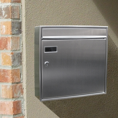 Stainless Steel Modern, Contemporary View Point Mailbox