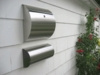 Stainless Steel Modern, Contemporary Wall Mount Mailbox - Rounded