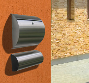 stainless steel modern wall mount mailbox