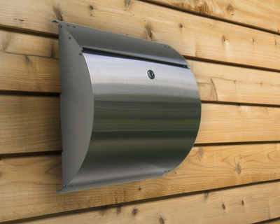 Curb Appeal Stainless Steel Modern, Contemporary Wall Mount Mailbox