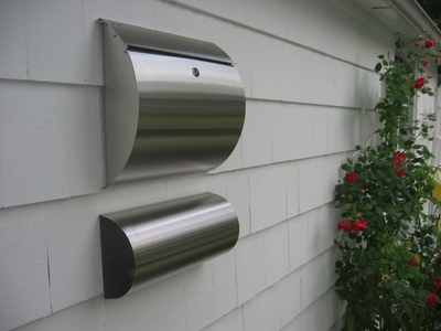 Curb Appeal Stainless Steel Modern, Contemporary Wall Mount Mailbox with Newspaper Holder