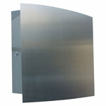 Large Stainless Steel Modern, Contemporary Wall Mount Mailbox