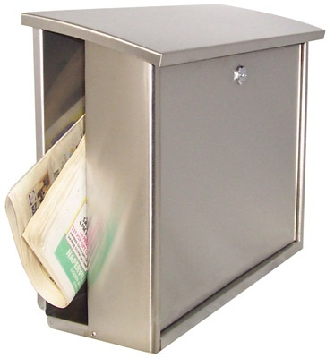 stainless steel modern wall mount mailbox square