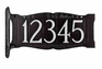 """Standard Size Two-Sided 4"""" Number Sign - (1 Line)"""