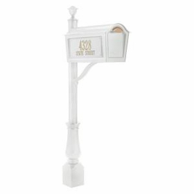 Whitehall Standard Chalet Mailbox Package - White