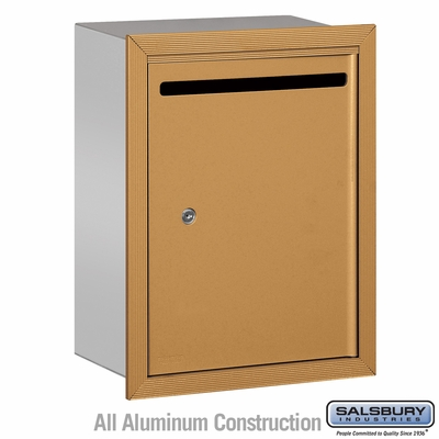 Salsbury 2245BP Standard Letter Box - Recessed Mounted - Brass - Private Access
