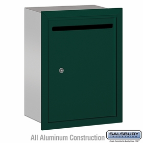 Salsbury 2245GP Standard Letter Box - Recessed Mounted - Green - Private Access