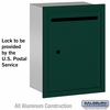 Salsbury 2245GU Standard Letter Box - Recessed Mounted Green USPS Access
