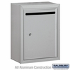 Salsbury 2240AP Standard Letter Box - Surface Mounted - Aluminum - Private Access