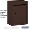 Salsbury 2240ZU Standard Letter Box - Surface Mounted Bronze Finish USPS Access