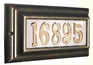 Edgewood Standard Lighted Address Plaque with Cast Aluminum Numbers - French Bronze Frame
