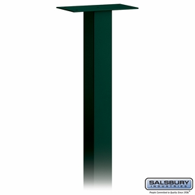 Salsbury 4895GRN Standard Mailbox Post In Ground Mounted Green