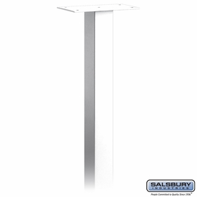 Salsbury 4895WHT Standard Mailbox Post In Ground Mounted White
