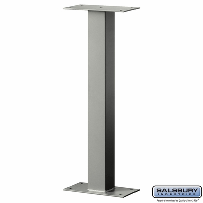 Salsbury 4365D-NIC Standard Pedestal Bolt Mounted For Designer Roadside Mailbox Nickel Finish