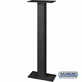 Salsbury 4365B Standard Pedestal Bolt Mounted For Mail Chest Black