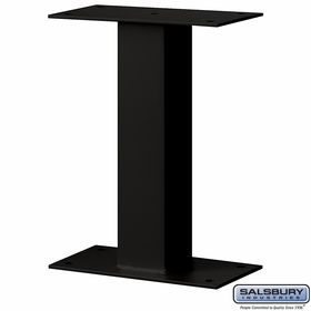Salsbury 4395BLK Standard Pedestal - Bolt Mounted - for Mail Package Drop - Black