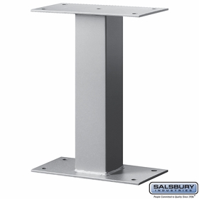 Salsbury 4395SLV Standard Pedestal - Bolt Mounted - for Mail Package Drop - Silver