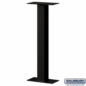 Salsbury 4365BLK Standard Pedestal Bolt Mounted For Roadside Mailbox Black