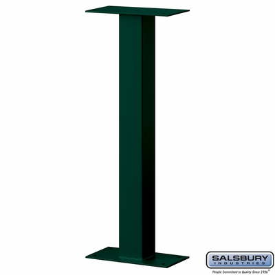 Salsbury 4365G Standard Pedestal Bolt Mounted For Mail Chest Green