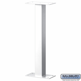 Salsbury 4365W Standard Pedestal Bolt Mounted For Mail Chest White