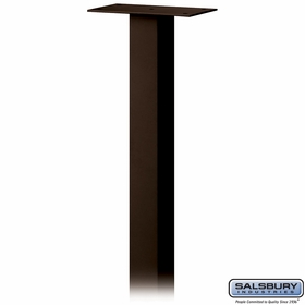Salsbury 4385D-BRZ Standard Pedestal In Ground Mounted For Designer Roadside Mailbox Bonze Finish