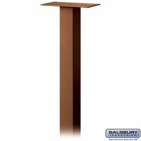 Salsbury 4385D-COP Standard Pedestal In Ground Mounted For Designer Roadside Mailbox Copper Finish