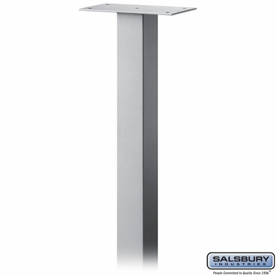 Salsbury 4385SV Standard Pedestal In Ground Mounted For Mail Package Drop Silver