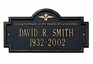 """Standard Size Arlington """"In Memory of"""" Wall or Lawn Plaque - (2 Lines)"""