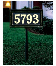 Standard Size Classic Rectangle Illuminator Wall or Lawn Traffic Sign - (1 Line)