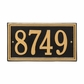 Standard Size Double Line Frame Wall or Lawn Plaque - (1 or 2 lines)