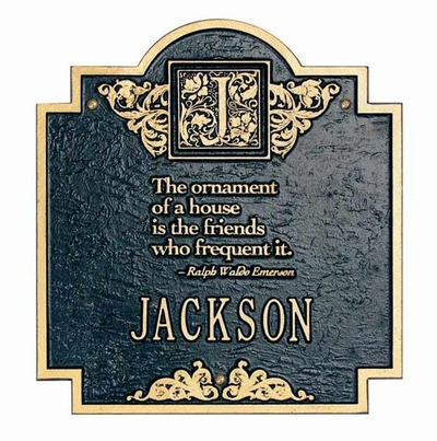 Standard Size Emerson Wall Plaque - (1 Line)