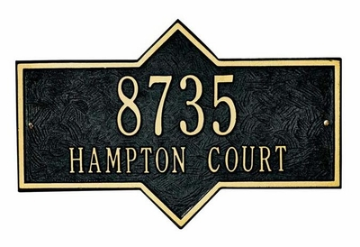 Whitehall Standard Size Hampton Wall Plaque - (1 or 2 lines)
