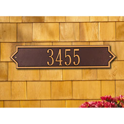 Standard Size Norfolk Horizontal Wall Plaque - (1 or 2 Lines)