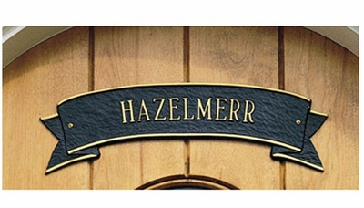Standard Size Ribbon Wall Plaque - (1 Line)