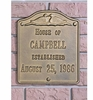 Whitehall Standard Size Wedding Wall or Lawn Plaque - (2 Lines)
