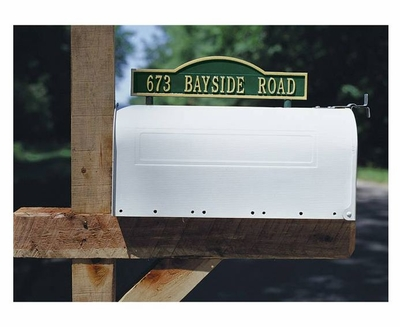 Standard Two-Sided Arch Mailbox Address Marker - (1 Line)