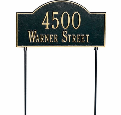 Whitehall Standard Two-Sided Arch Marker Lawn Plaque (1 or 2 lines)