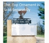 Standard Two-Sided Mailbox Sign w/Ornament Option - (1 Line)