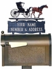 Whitehall Standard Two-Sided Standard Mailbox Sign w/Ornament Option - (2 Lines)