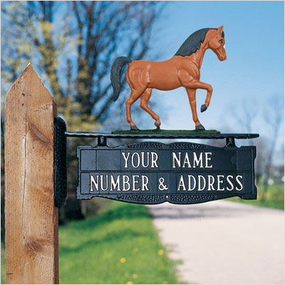 Whitehall Standard Two-Sided Standard Post Sign w/Ornament Option - (2 Lines)