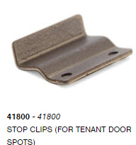 Stop Clips (For Tenant Door Spots)