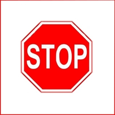 Stop Sign Reflective Faceplate 18""