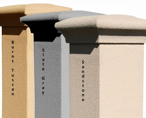 Column mailbox parts and accessories residential mailbox for Stucco columns
