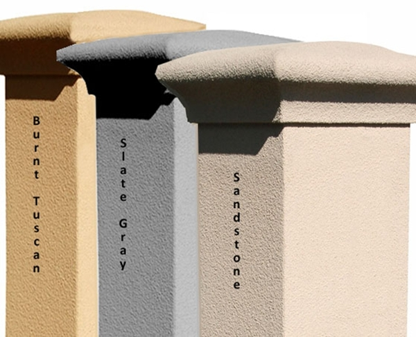Qualarc stucco column only for manchester non locking for Stucco columns