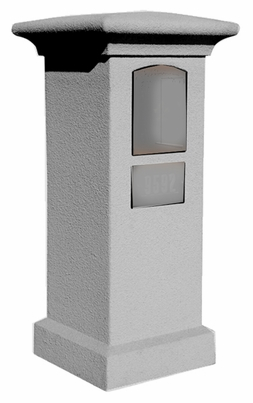 Stucco Column (Only) for Manchester Non-Locking Column Mount Mailbox - Slate Grey (Mailbox and Address Plaque Sold Separately)