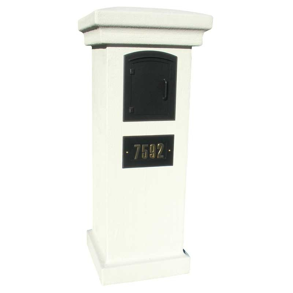 Stucco Column Only For Manchester NonLocking Mount Mailbox   Slate Grey Mailbox And Address Plaque Sold Separately Column Mount Mailbox A40