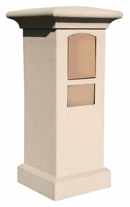 Stucco Column (Only) for Manchester Non-Locking Column Mount Mailbox - Sandstone (Mailbox and Address Plaque Sold Separately)