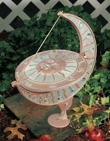 Whitehall Sun and Moon Sundial - Copper Verdi