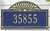 Sunburst - One Line Estate Lawn Address Sign