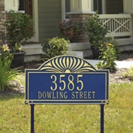 Sunburst - Two Line Standard Lawn Address Sign